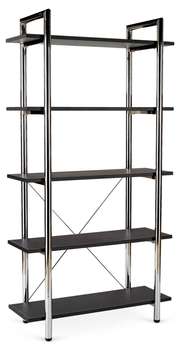 Lorin Bookshelf, Brown/Silver