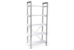 Lorin Bookshelf, White/Silver