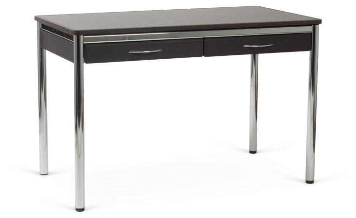 Lillien Desk, Wenge/Silver