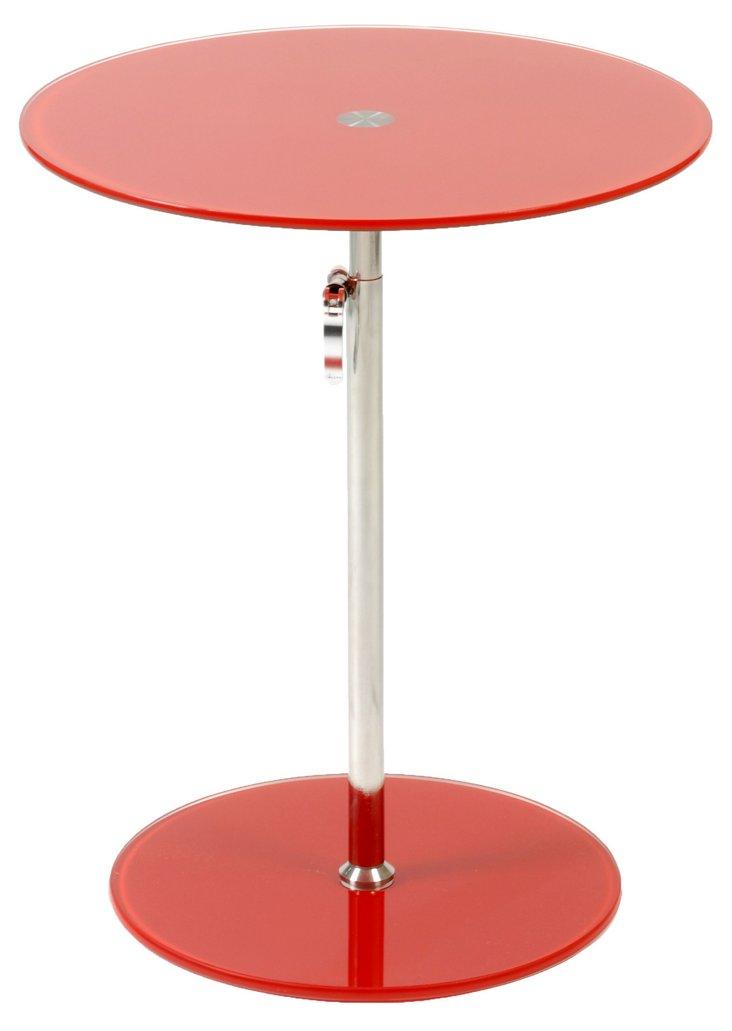 Radinka Adjustable Side Table, Red