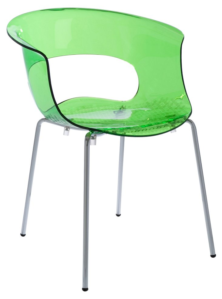 Mod Side Chair, Lime Green