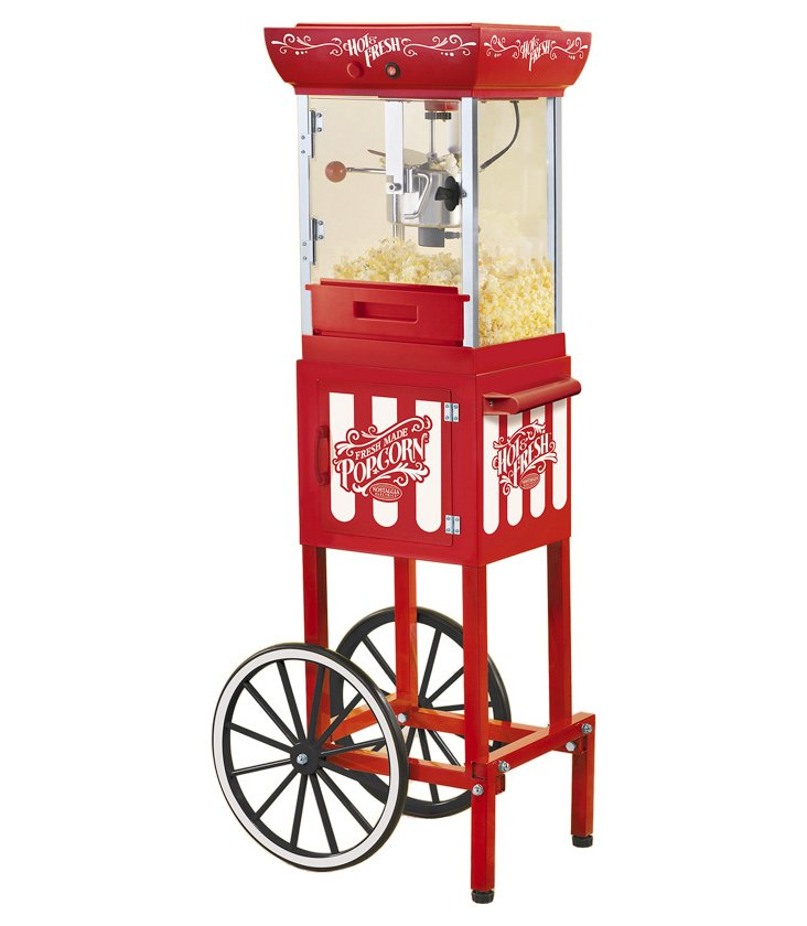 10-Cup Old-Fashioned Popcorn Cart