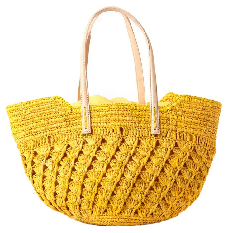Small Crocheted Tote, Sunflower