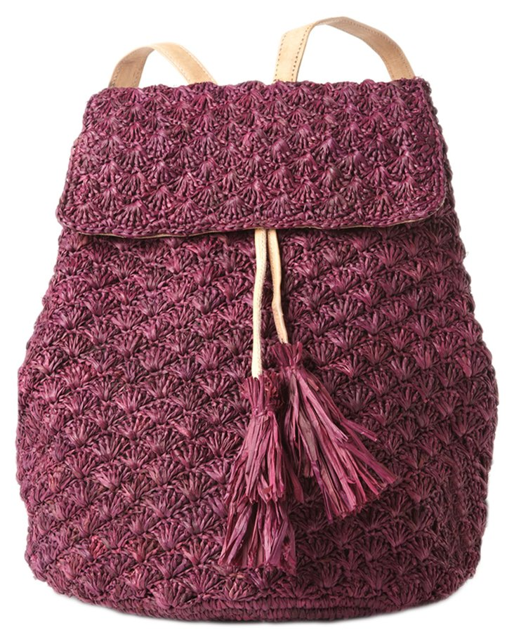 Crocheted Backpack, Berry
