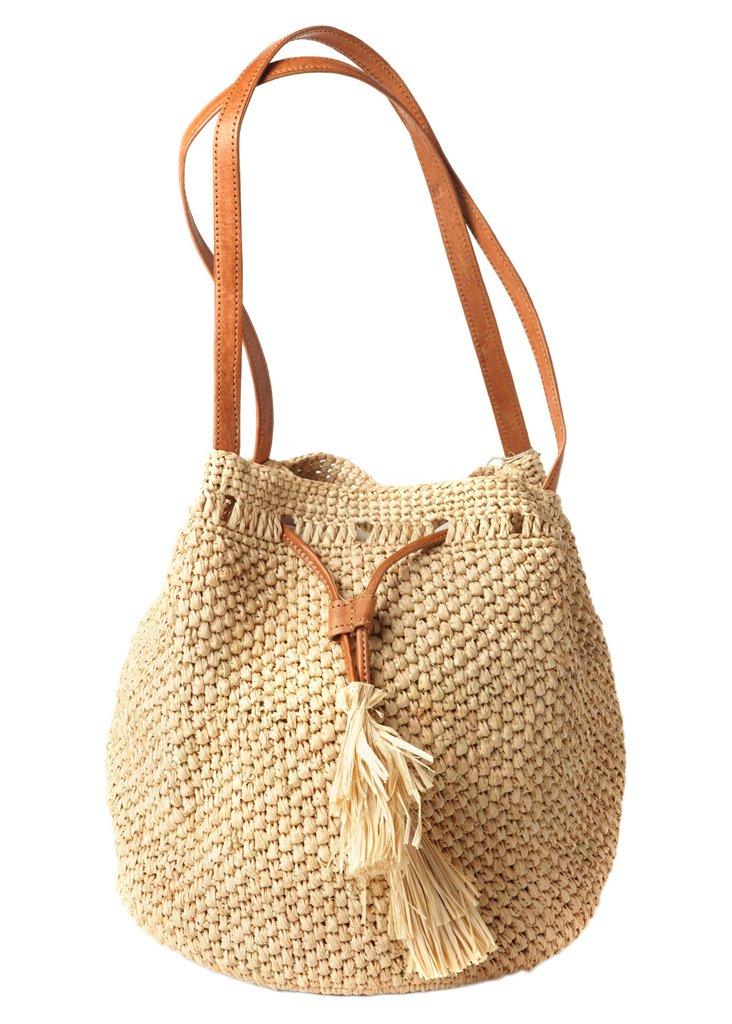Crocheted Shoulder Bag, Natural