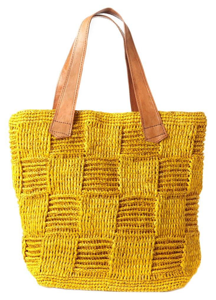 Antigua Crocheted Tote, Sunflower