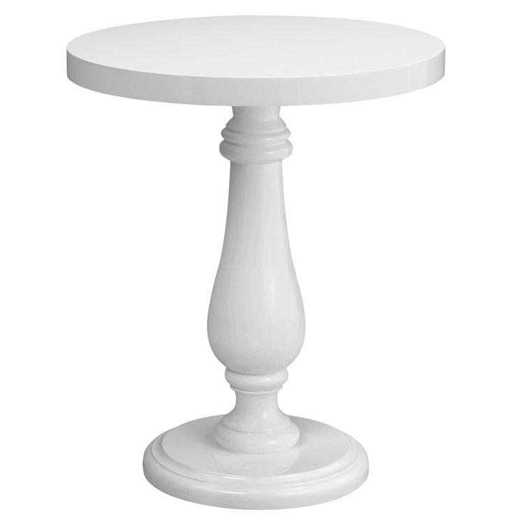 Balustrade Side Table, White