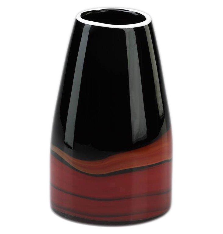 "9"" Deep Swirl Vase"