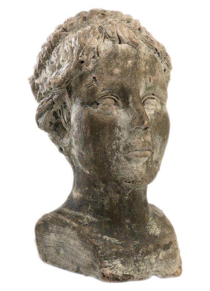 Weathered Head Sculpture