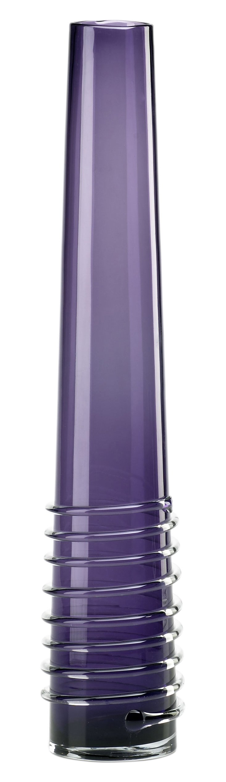 """25"""" Purple Spiral Vase"""