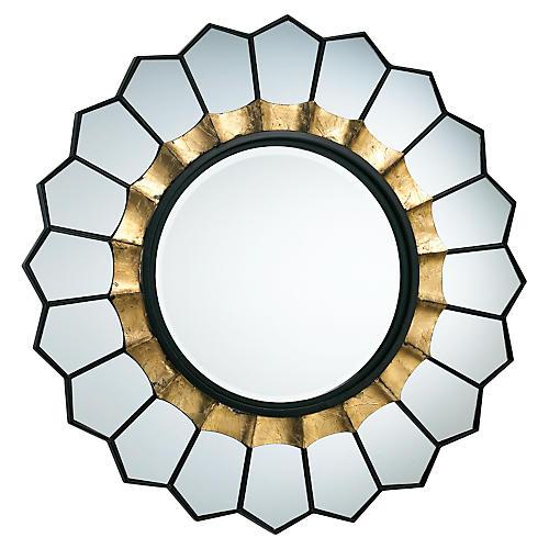 "Tempe 32"" Wall Mirror, Gold"