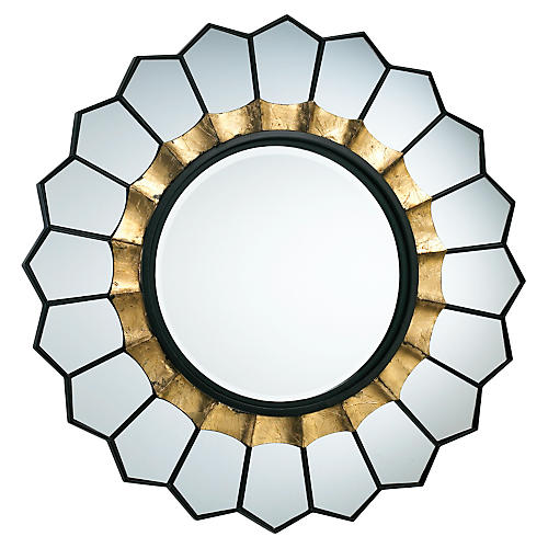"Tempe 32"" Wall Mirror, Gold"