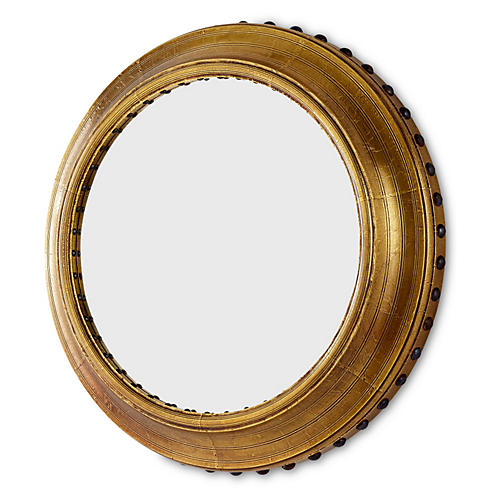 "Adonia 30"" Wall Mirror, Brass"