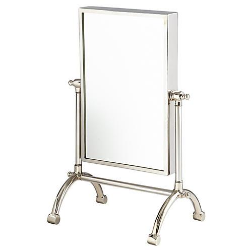 "Semele 17""x25"" Wall Mirror, Silver"