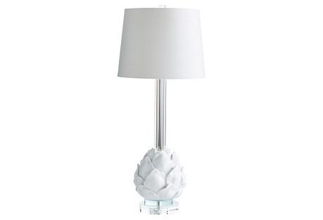 Chloe Table Lamp, White