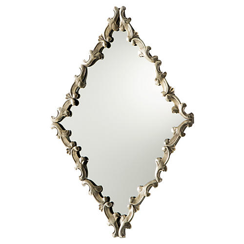 Moreau Wall Mirror, Silver