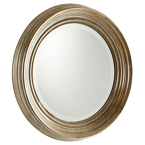 "Marcy 20"" Accent Mirror, Silver"