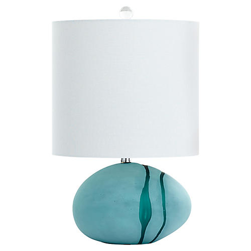 Small Terza Table Lamp, Green