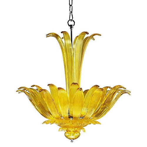 Moritz Murano Glass Pendant, Yellow