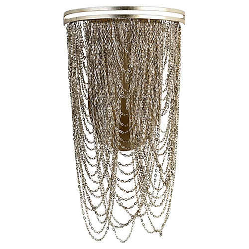 Ithaca Wall Sconce, Aged Silver