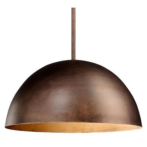 Carson Pendant, Oiled Bronze