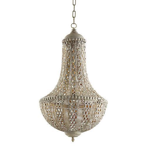 Tangier Pendant, Antiqued Silver