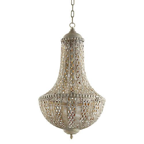 Tangier Pendant, Antiqued Silver