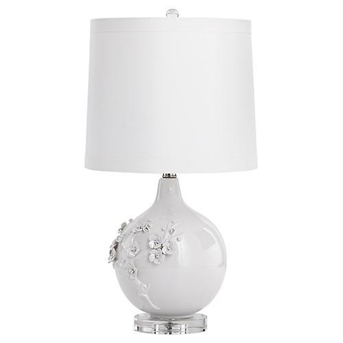 Leandra Table Lamp, White