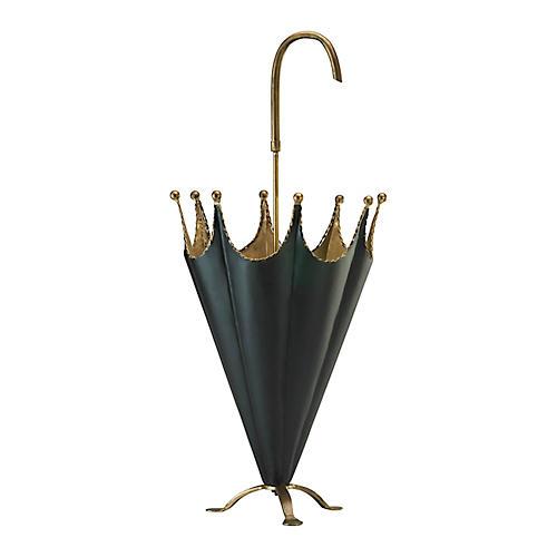 "31"" Umbrella Stand, Gold/Black"