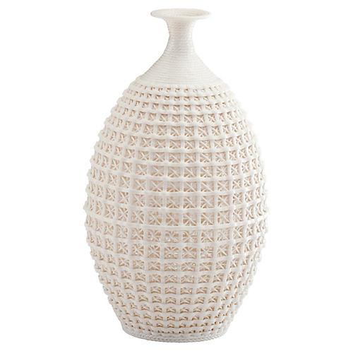 """14"""" Diana Vase, Matte White"""