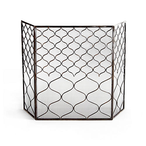 "50"" Blakewell Fire Screen, Iron"