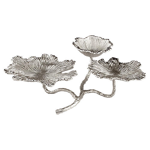 """22"""" Flowers and Flames Candleholder"""