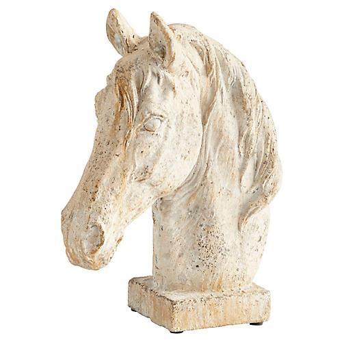 "11"" Majestic Horse Sculpture, White"
