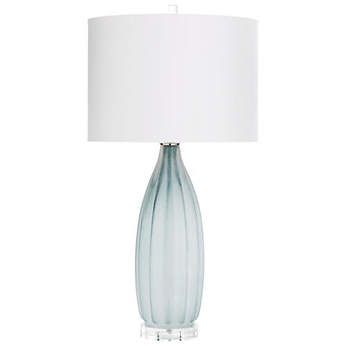 Blakemore Crystal Table Lamp, Gray/Clear