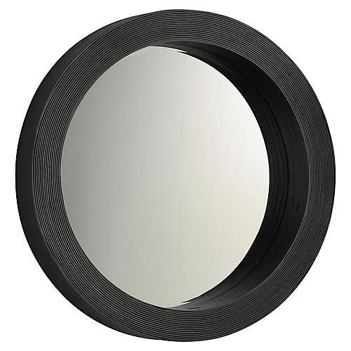Round Wall Mirror, Espresso