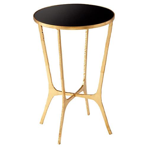 Floyd Side Table, Black/Gold Leaf