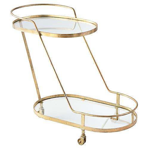 Patin Bar Cart, Brass