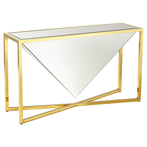 Titan Console, Polished Gold