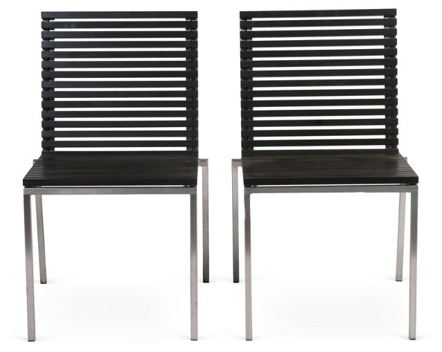 Viteo Outdoor Side Chairs, Pair