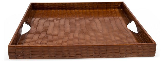 Crocodile-Embossed Tray