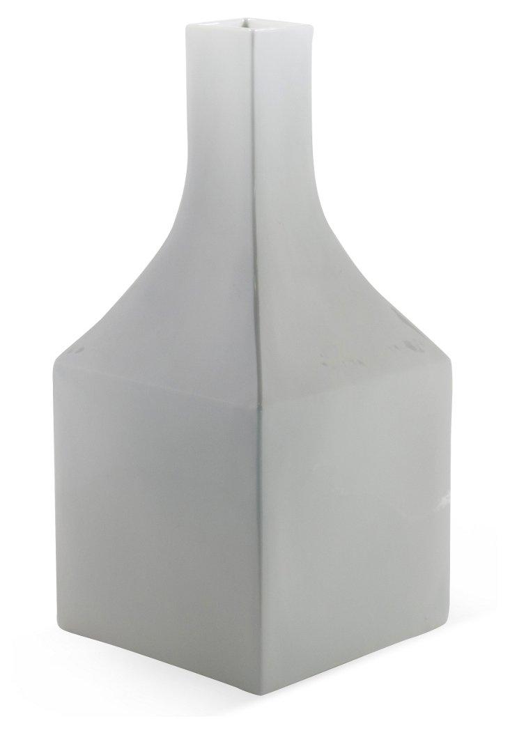 Tall Square Vessel, White