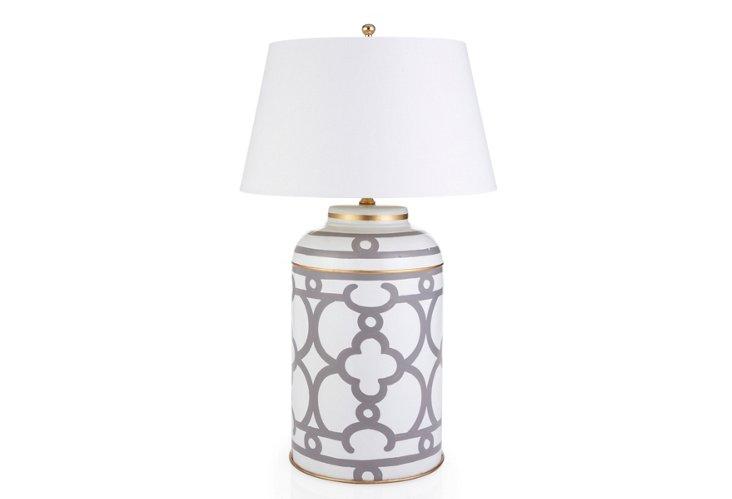 Ming Tea Caddy Lamp, Gray