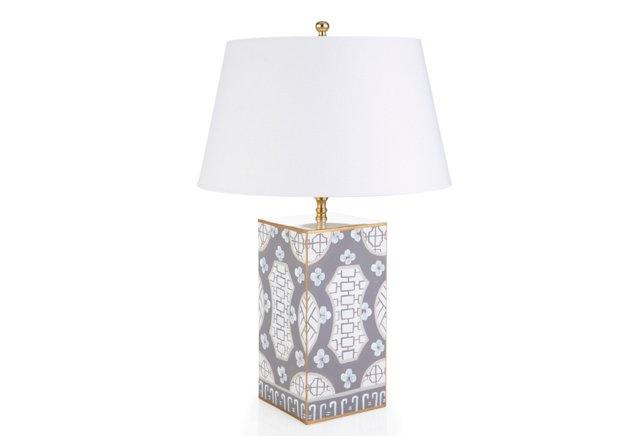 Canton Vase Lamp, Gray