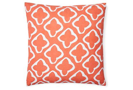 Moda 18x18 Cotton Pillow, Orange