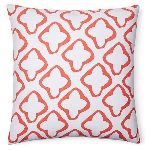 moda 18x18 cotton pillow orange - Decorative Pillows