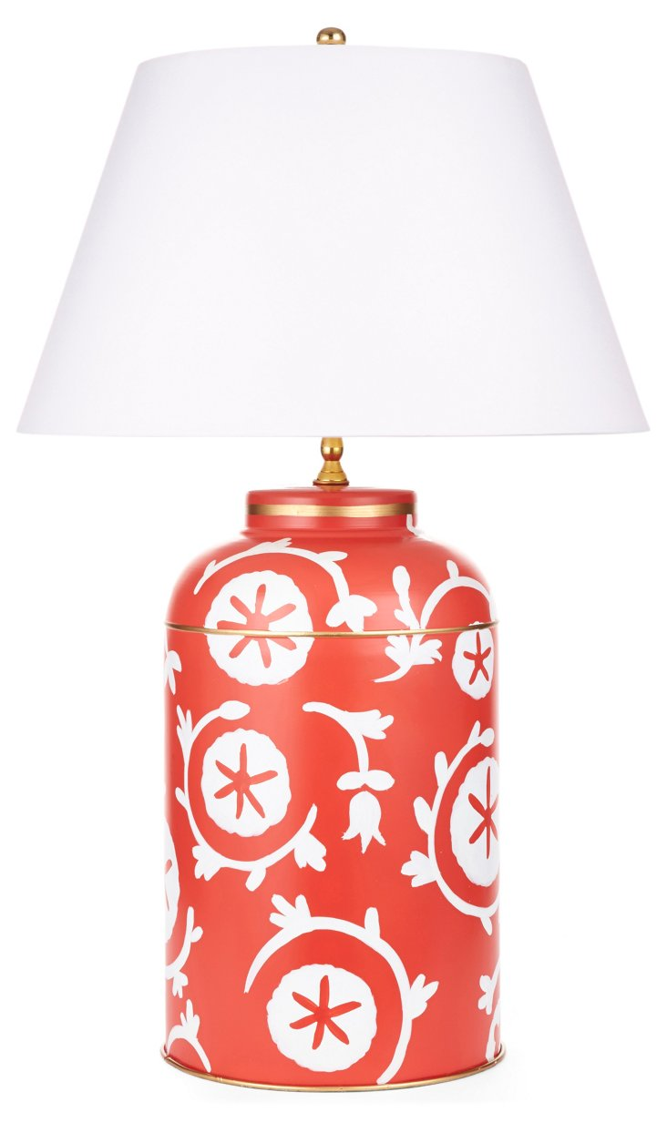 Ramoshka Tea Caddy Table Lamp, Orange