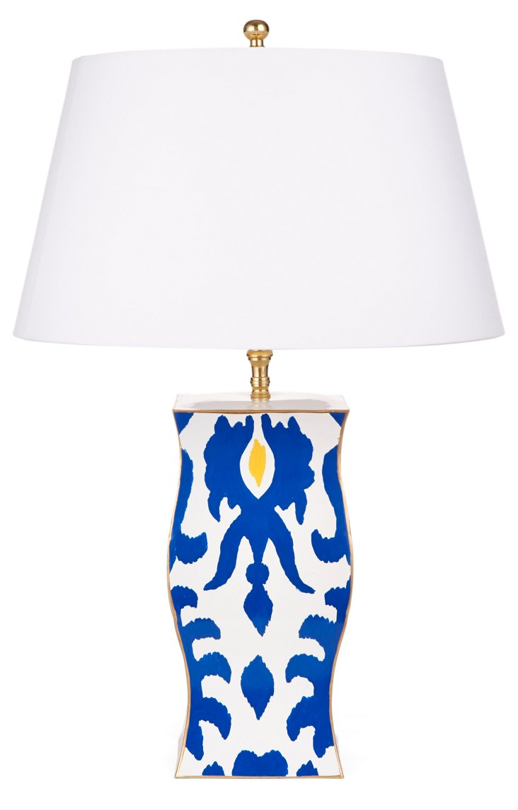 Verushka Vase Table Lamp, Navy