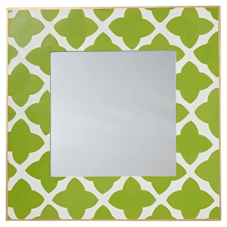 Moda Accent Mirror, Green