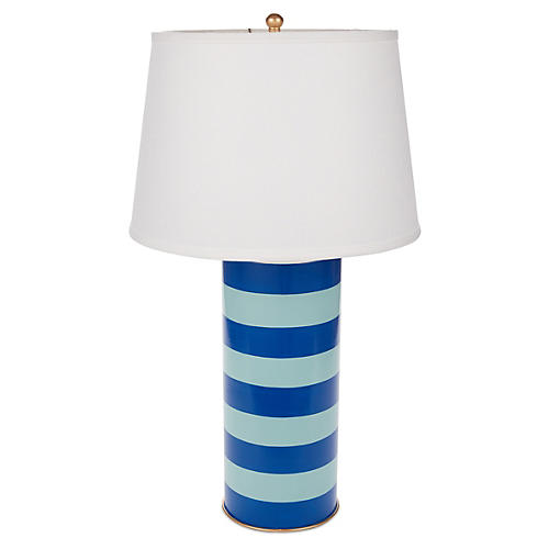 Stacked Table Lamp, Turquoise