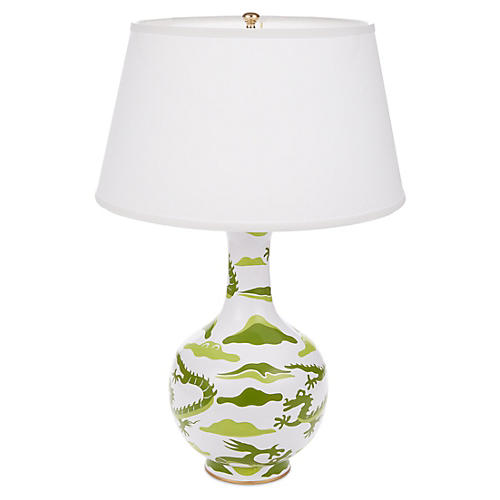 Dragon Bottle Table Lamp, Green